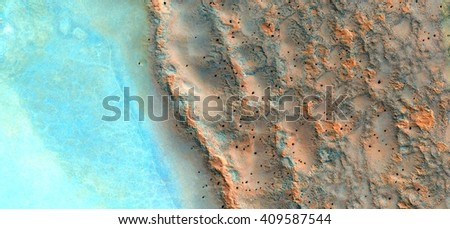 mirage in Sahara desert, Photographs magic, just to crazy, artistic, abstract, from the deserts of Africa from the air, landscapes of your mind, optical illusions