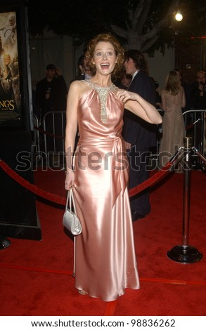 MIRANDA OTTO at the USA premiere of her new movie The Lord of the Rings: The Return of the King, in Los Angeles. December 3, 2003  Paul Smith / Featureflash
