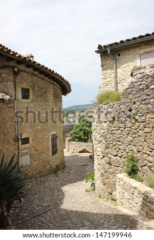 Mirmande village in Provence Drome, South of France