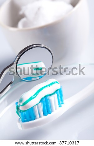 mirror and  dental care