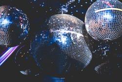 mirror balls in the disco