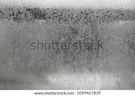 Mirror is hazy, concept about background or rainy season