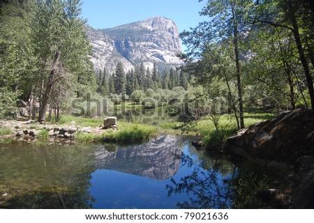 Mirror Lake & Mount Watkins - stock photo