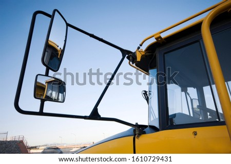 Mirrors on a Heavy Equipment earth mover