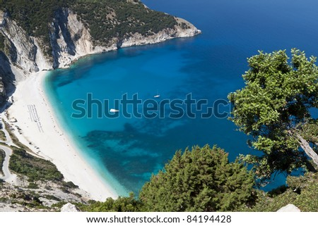 Mirtos beach at Kefalonia island in Greece