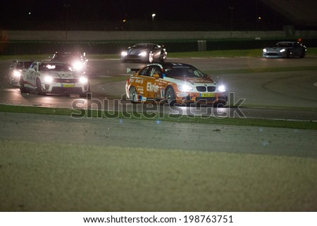 MISANO ADRIATICO, Rimini, ITALY - May 10:  A BMW M3 GT4 PRO of RT Holland Ekris MS tam, driven By KNAP Simon and VAN ORANJE Pieter Christiaan (NED), the GT4 European Series car racing on May 10, 2014