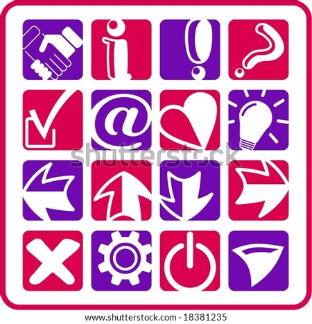 Miscellaneous signs raster iconset. Vector version is available in my portfolio