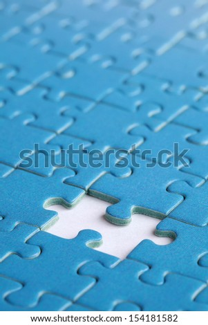 Missing piece in a jigsaw puzzle, concept problem solution