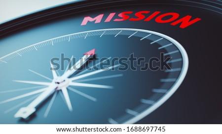 mission concept picture (3D Render) Photo stock ©