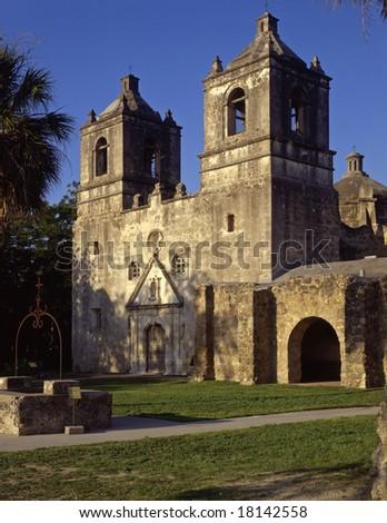 Mission Conception, part of the San Antonio Missions Historical Park, in San Antonio, Texas.