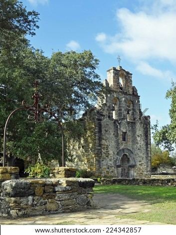 Mission Espada is a Roman Catholic mission established by Spain near San Antonio in 1731. One of four missions along the San Antonio river that comprise San Antonio Missions National Historical Park.