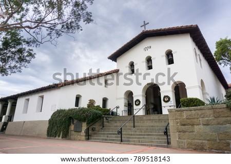 Mission San Luis Obispo de Tolosa, San Luis Obispo, central California Foto stock ©