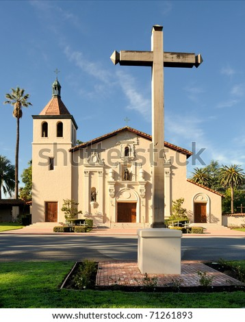 Mission Santa Clara on the campus of Santa Clara University in Santa Clara, California