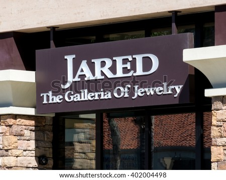 MISSION VIEJO, CA/USA - APRIL 2, 2016: Jared jewelry store exterior and logo. Jared is a subsidiary ofSterling Jewelers, Inc. an American specialty jewelry company.