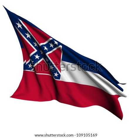 Mississippi flag - USA state flags collection no_2