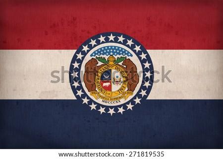 missouri  flag on fabric...