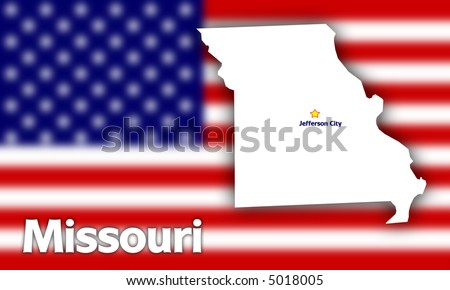 state of missouri flag. stock photo : Missouri state