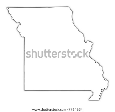 missouri map with cities. cities maps and outline