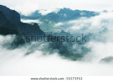 mist and mountain