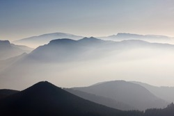 Mists in the mountains of the Basque Country.