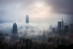 Misty and Cloudy view at Hong Kong