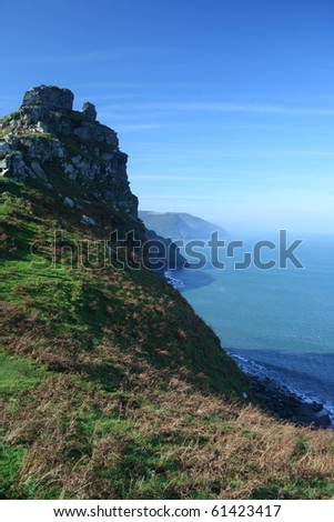Romantic Misty Devonshire Coastline : Shutterstock