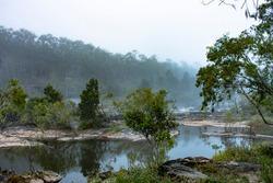 Misty morning at Barron river
