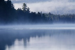 Misty Morning in Mont Tremblant National Park-Canada