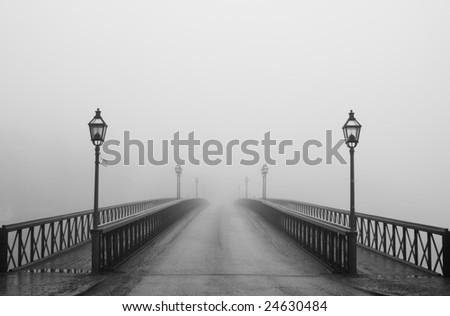 Misty morning in Stockholm
