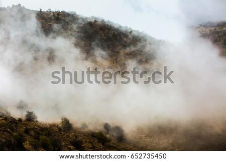 Misty mountain  landscape background. #652735450