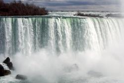 Misty waterfall of Niagara Falls