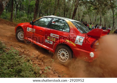 stock photo mitsubishi rally