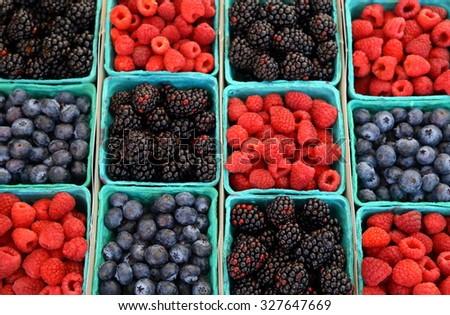 Mix berries includes raspberries, black berries and blue berries
