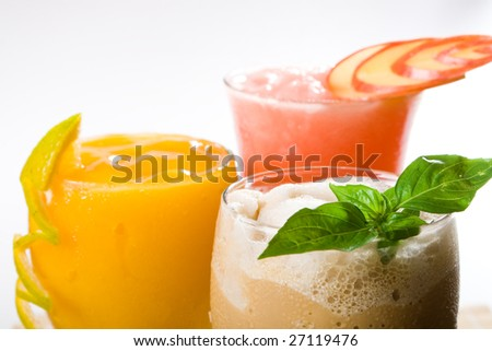 mix colorful cocktail drinks