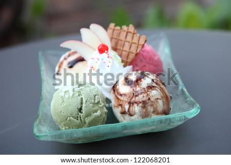 Mix ice cream