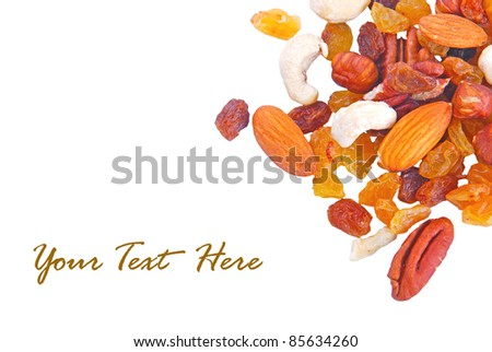 Mix nuts and dry fruits #85634260
