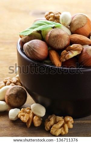 mix nuts - walnuts, hazelnuts, almonds