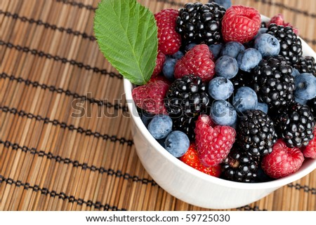Mix of berries in a bowl