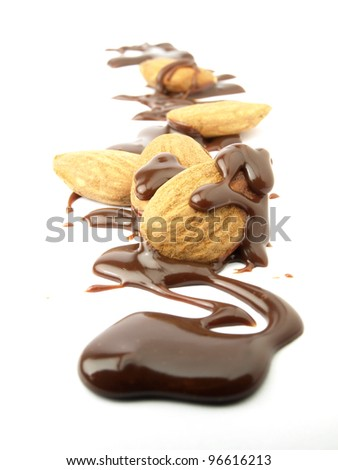 Mix of chocolate and almonds