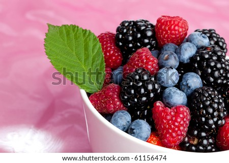 MIx of different berries...