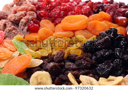 Shutterstock Mix of different dried fruits