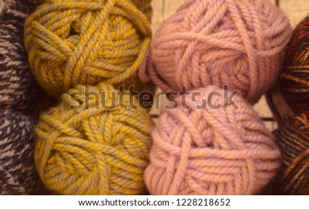 Mix of mohair for knitting
