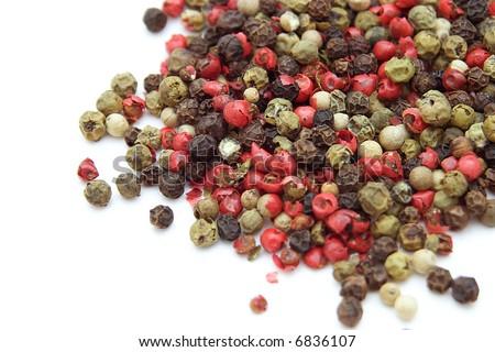 mix of peppercorns - stock photo