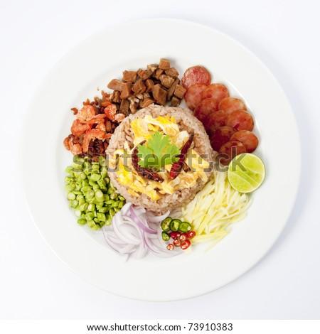Mix Rice Paste,Thai style.