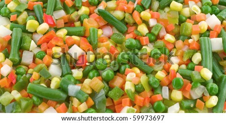 mix vegetable background pea, corn, carrot and green bean