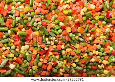 mix vegetables background. close up photo of different vegetables