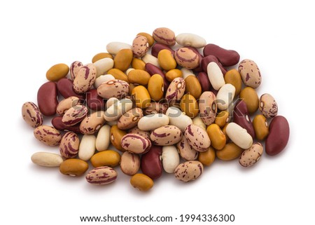 mixed beans group isolated on white background Сток-фото ©
