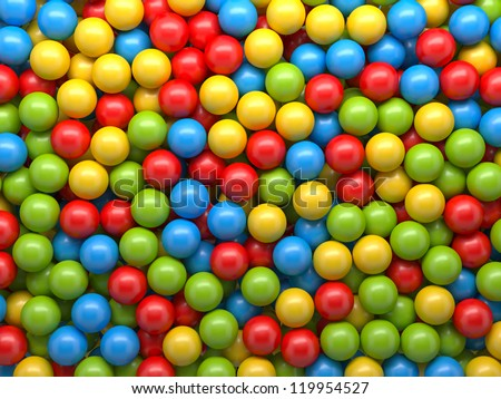 mixed-color balls background