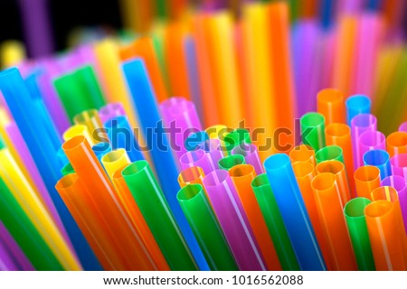 Mixed color of straw stick