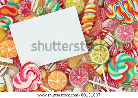 Mixed colorful fruit bonbon close up